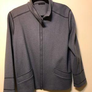 Gray heavy jacket , 100% wool